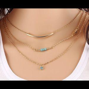Jewelry - ✨🌟GORGEOUS HAMSA HAND BOHO LAYERED EYE NECKLACE